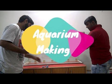 How To Make An Aquarium Tank ♠ DIY ♠ Big Size Aquarium At Home