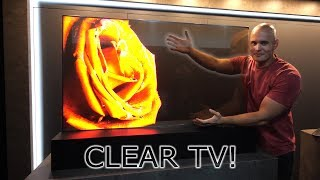I found a Transparent TV! - How does it work?! OLED vs LCD