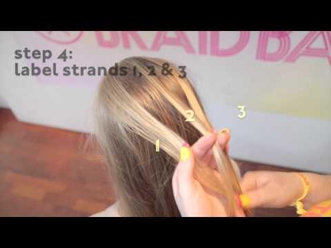 1. Basic braid tutorials: simple French braid by The Braid Bar