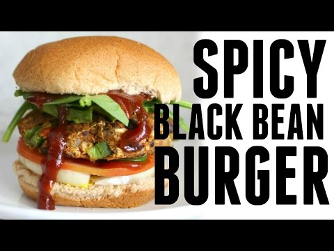 SPICY BLACK BEAN BURGER | EASY WEEKNIGHT DINNER | This Savory Vegan