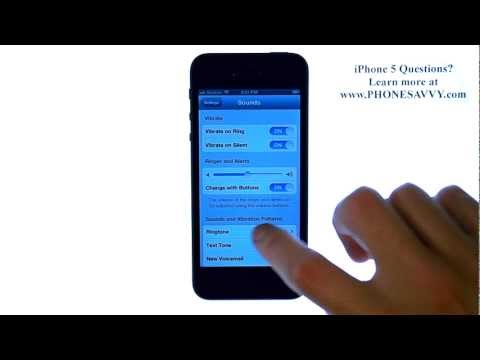 Apple iPhone 5 - iOS 6 - How do I Change the Ringtone for Incoming Calls