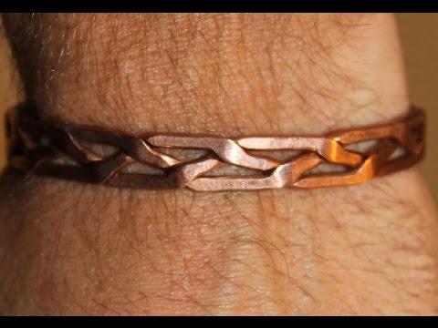 comment faire un bracelet en cuivre / Make a copper bracelet