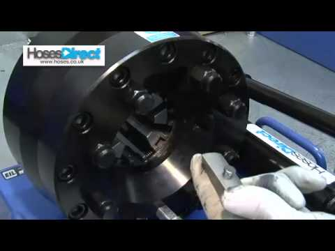 How to use a Hydralok Hydraulic Hand Crimper from Hoses Direct.mov