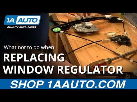What not to do when replacing a power window motor. BUY QUALITY AUTO PARTS AT 1AAUTO.COM