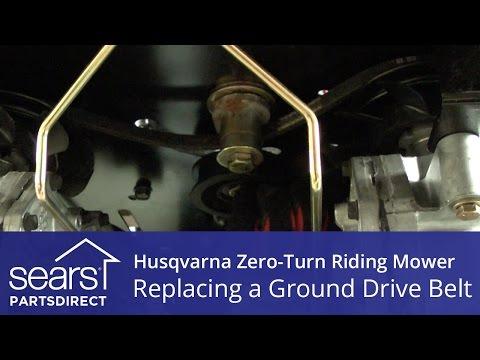 How to Replace a Husqvarna Zero-Turn Riding Mower Ground Drive Belt