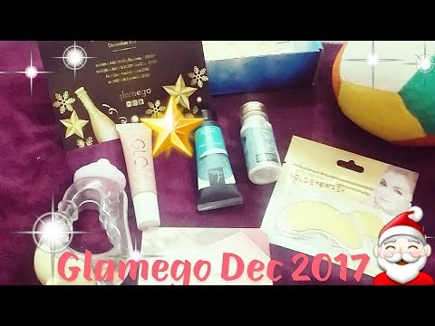 Glamego Box December with star🌟 product👍(I can't show my face)?