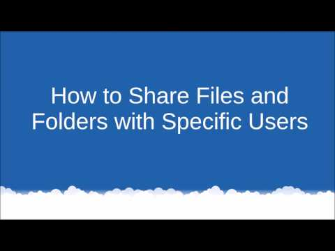 How to Share Files and Folders with Specific Users in Windows