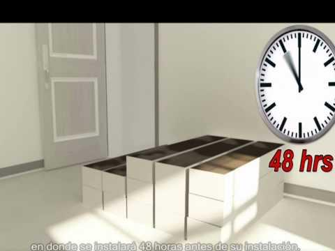 Vídeo de la instalación - pisos laminados con sistema de clic plegar