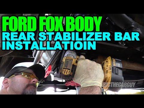 Ford Fox Body Rear Stabilizer Bar Installation