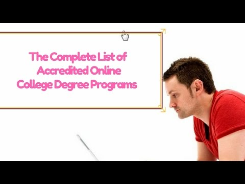 Online college programs accredited