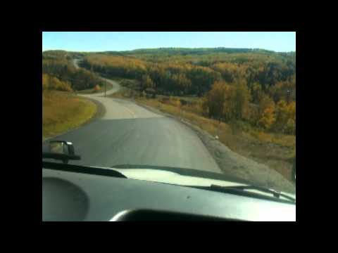 Autumn Hill Driving and Shifting in a Semi Truck