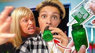 Tic Tacs In Pill Bottle Prank angry Mom Freakout Prank Wars