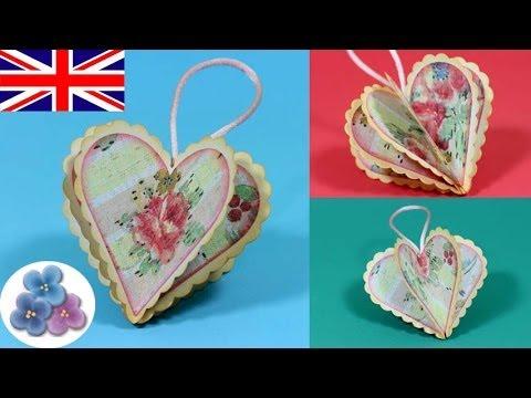 DIY Valentines Day Heart Crafts I Love You Vintage Heart Paper Crafts 2015 Scrapbook Mathie