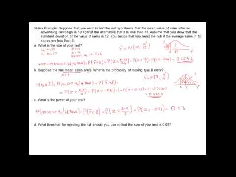 calculating power of a test