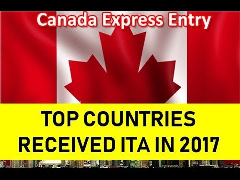 Top  Countries that Received Express Entry Invitations To Apply in 2017