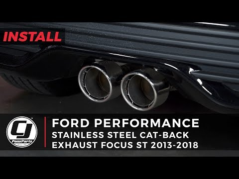 2013-2018 Focus ST: Ford Performance Stainless Steel Cat-Back Exhaust Install