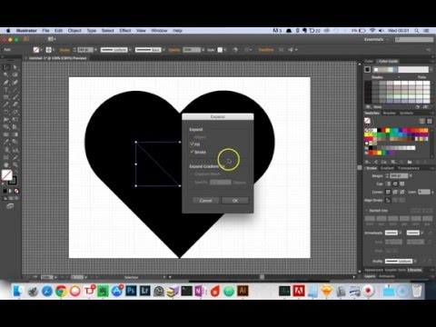The easiest way to create heart icon using illustrator