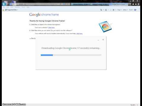 Installing Google Chrome Frame - Internet Explorer