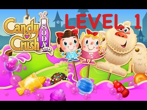 Candy Crush Soda level 1-Tutorial - Tips & -Live Explanation