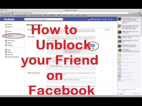 How to Unblock your friend on facebook which you blocked