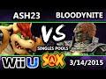S@X Monthly - Bloodyknight (Ganondorf) Vs. Ash (Bowser) - SSB4 Singles Pools - Smash 4