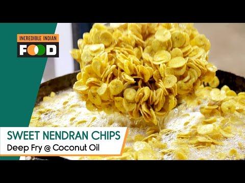 Sweet Nendran Banana Chips   Deep Fry @ Coconut Oil   Street Food @ Chennai