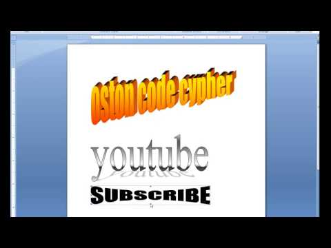 Learn how to create 3D text using Microsoft word 2007