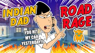 Car Accident Makes Angry Indian Dad RAGE (animated)