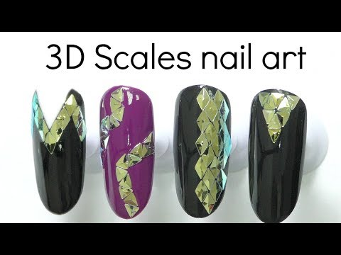 Metallic scales 🔷 Nail art tutorial for beginners