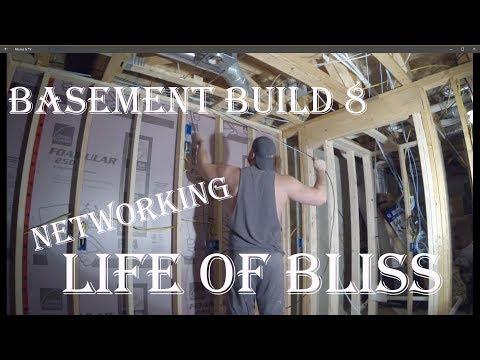 Basement Build 8 | Network & Speaker Wire | Stair Lighting