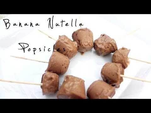 How To Make Banana Nutella Popsicles
