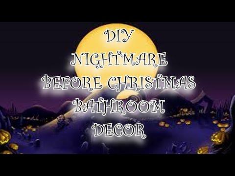 DIY DISNEY'S NIGHTMARE BEFORE CHRISTMAS BATHROOM DECOR JACK SKELLINGTON