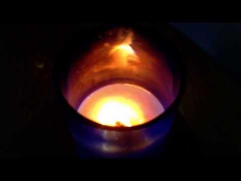 Wine Bottle Candle - Crackling & Burning Sound