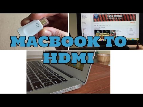 How to connect Macbook Air to TV/Monitor with HDMI cable
