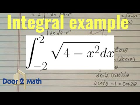 *Integral (antiderivative) of:  sqrt(4-x^2) dx  (from x=-2 to 2)