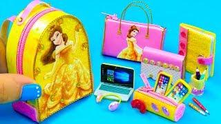 Download DIY Miniature Belle School Supplies ~ Backpack, Glitter Pen, Pencil Case Video
