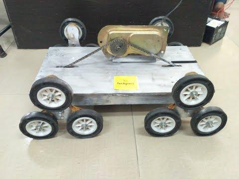 Autonomous Motor Controlled Stair Climbing Robot Mechanism