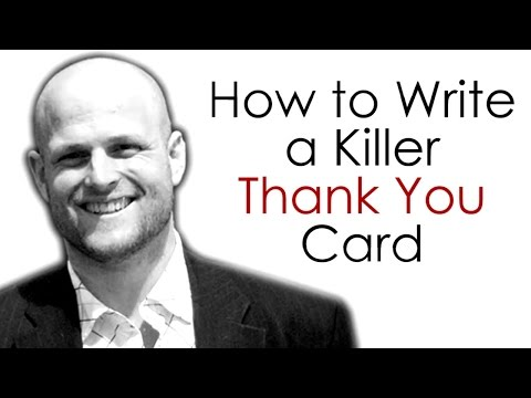 Real Estate Agents...How to Write a Killer Thank You Card