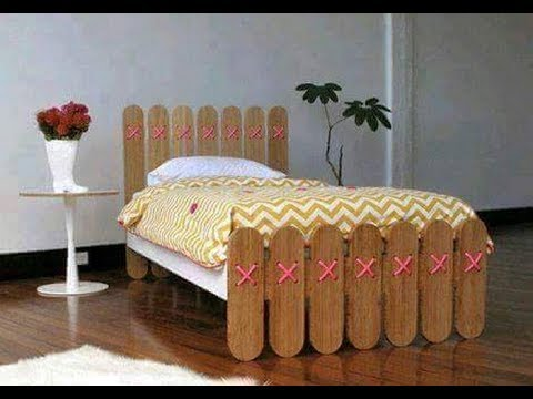 Popsicle stick bed Making
