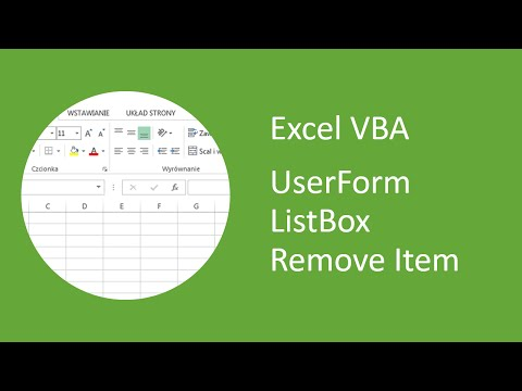 Excel VBA UserForm Listbox Remove Item