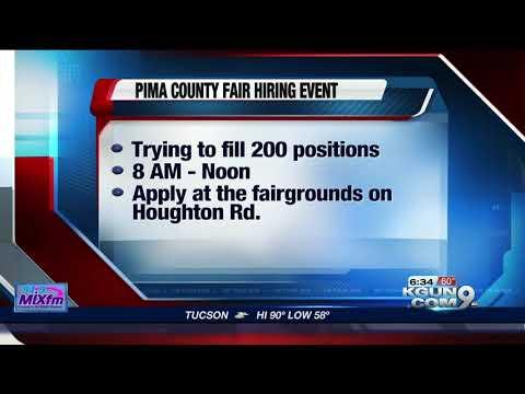 Pima County Fair hiring temporary employees