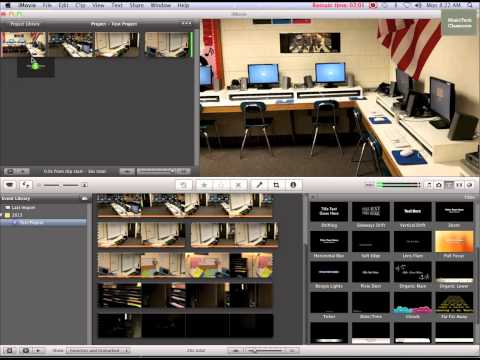 iMovie '11- Splitting Video, Adding Title and Transitions