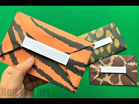 Easy Origami Envelope Tutorial DIY  - How to make an Envelope - NO GLUE