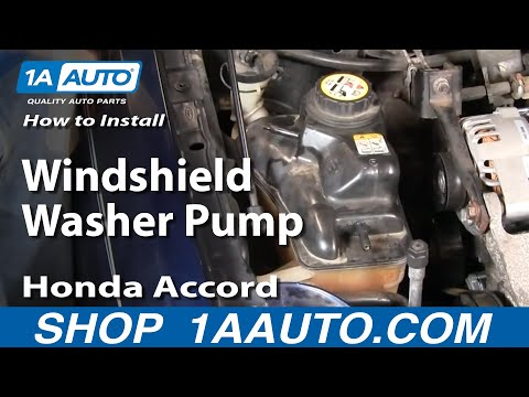 How To Install Replace Windshield Washer Pump Honda Accord 94-97 1AAuto.com