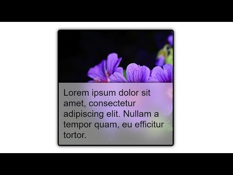 CSS -  Show Text Over An Image On Hover With Partial Blurred Background