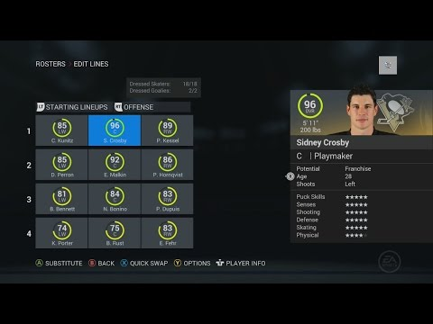 NHL 16: NHL TEAM OVERALLS, PLAYER/GOALIE RATINGS, AND ROSTERS!