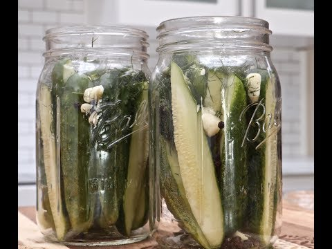 How to Make Homemade Dill Pickles  (Easy Refrigerator Recipe)