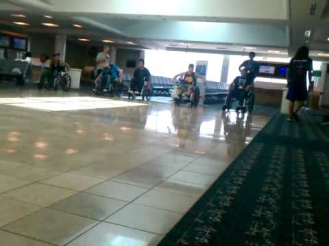 Wheel chair race - at airport !