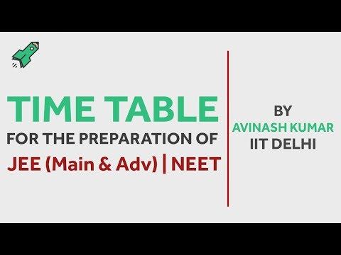 How to make a time-table for JEE | NEET Preparation