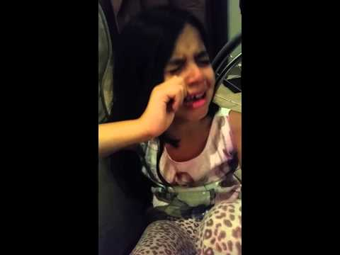 Little girl cries after iran loses.